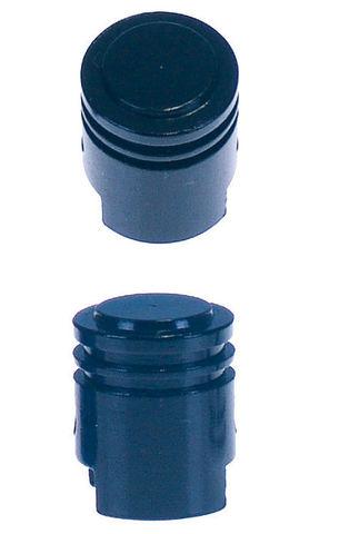 Крышка на поршневой клапан, не применимо к мотоциклам с системой контроля давления в шинах - черный