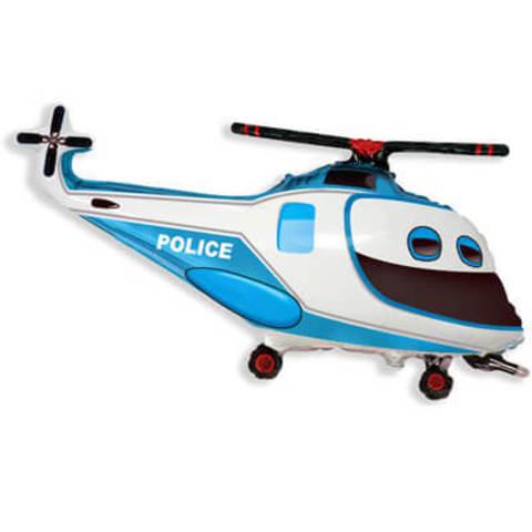 Фигура фольга Вертолёт полицейский