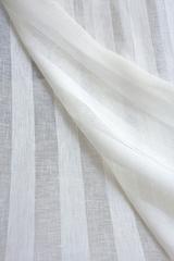 Льняная вуаль широкая, цвет молочный