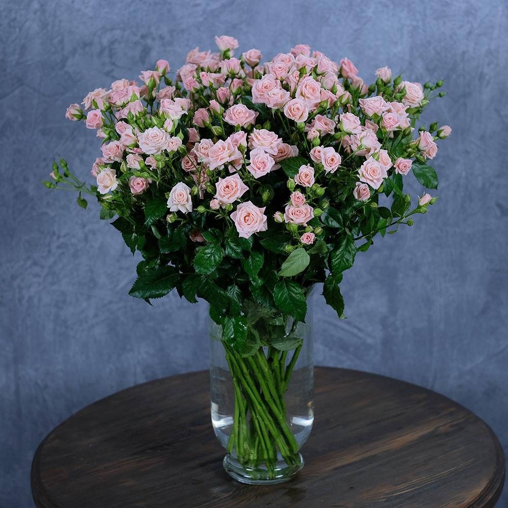 купить букет кустовые розы нежно-розовый пермь заказ онлайн доставка