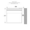 Монтажные размеры крепления указателя аварийного освещения ESC-10 к стене флагом (табло с дальностью распознавания 40 метров)