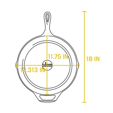 Сковорода чугунная, артикул L10SK3