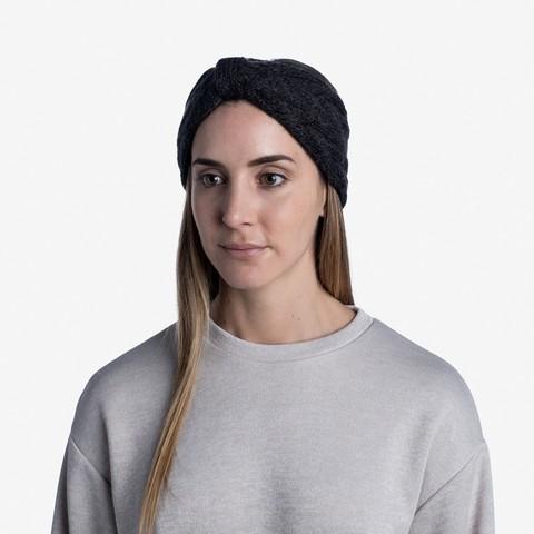 Вязаная повязка на голову Buff Headband Knitted Caryn Graphite фото 2