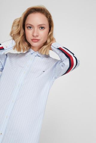 Женская голубая рубашка в полоску COTTON POPLIN MONICA GF Tommy Hilfiger