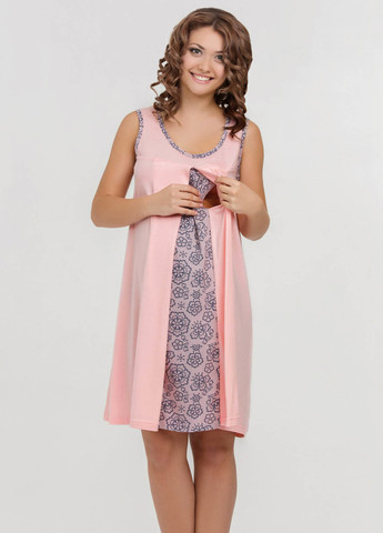 Ночная сорочка Nataly для беременных и кормящих персик 4906