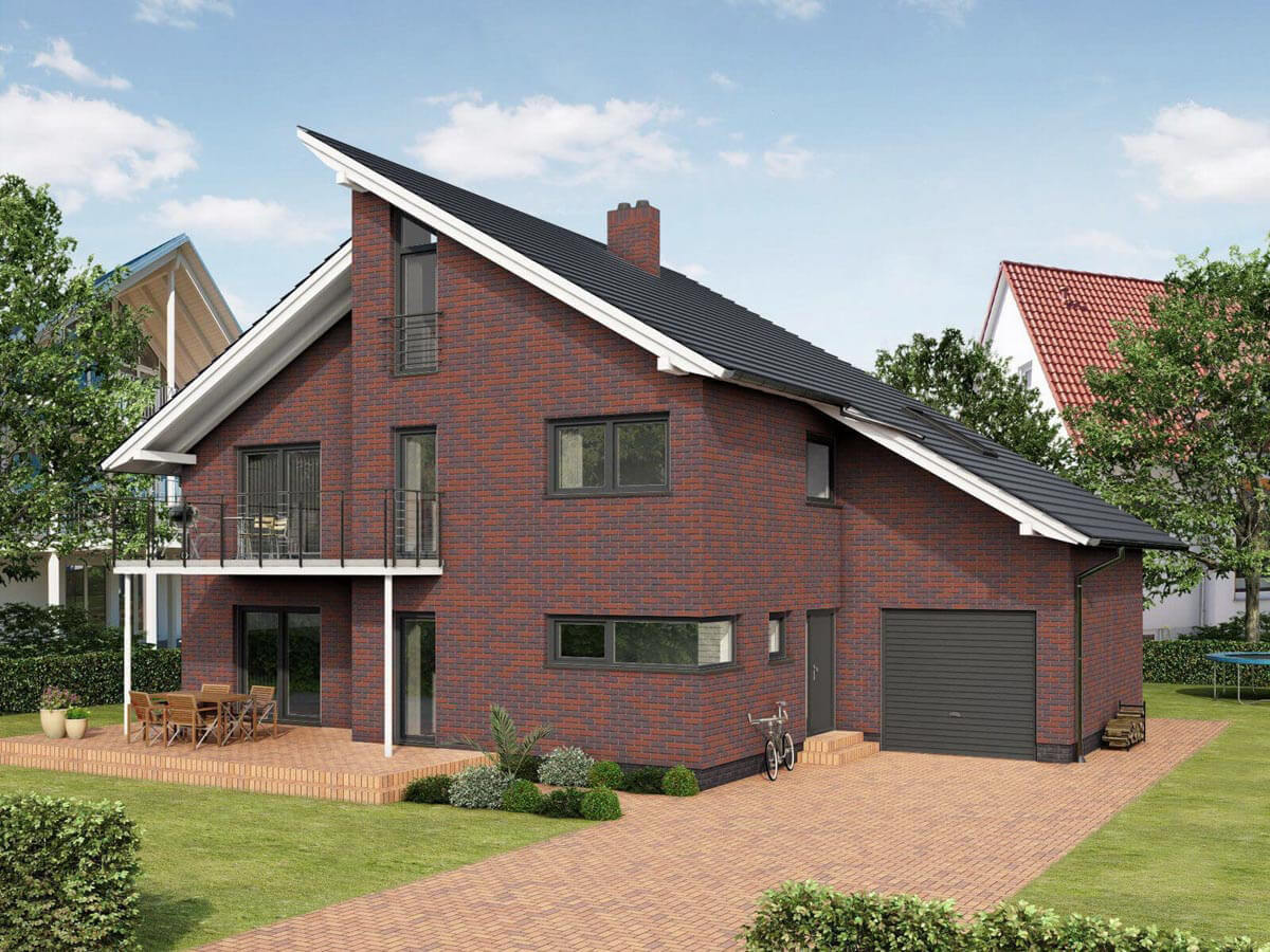 Feldhaus Klinker - R356NF9, Classic Carmesi Antic Liso, 240x9x71 - Клинкерная плитка для фасада и внутренней отделки