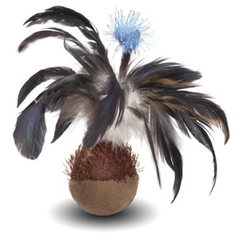 NEMS игрушка для кошек мяч с перьями