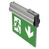 Указатель ESC-10 аварийного освещения на кронштейне TW77505 для монтажа к стене флагом