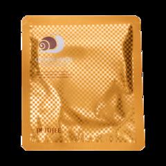 PETITFEE НАБОР Гидрогелевая маска для лица ЗОЛОТО/МУЦИН УЛИТКИ Gold&Snail Transparent Gel Mask Pack, 5 шт