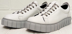 Женские кроссовки на платформе стиль кэжуал Guero G146 508 04 White Gray.