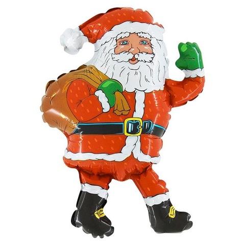 Шар-фигура Дед Мороз с мешком подарков