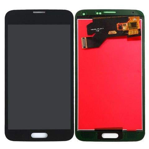 LCD SAMSUNG Galaxy S5 G900F + Touch Black Orig MOQ:5