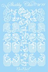 Трафарет для дизайна Shabby Chic 11 белый