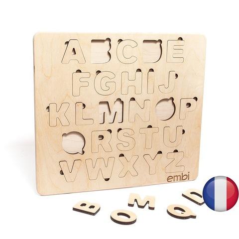 Деревянная азбука французский язык (размер мини)