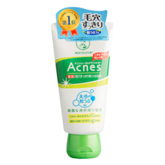 Очищающий крем-скраб для лица против акне, MENTHOLATUM, Acnes Scrub in Face Wash, 130мл