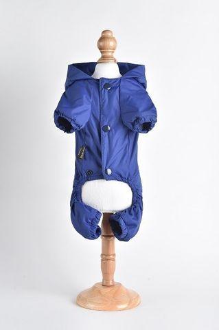 Royal Dog Дождевик флисовый с надписью синий размер L