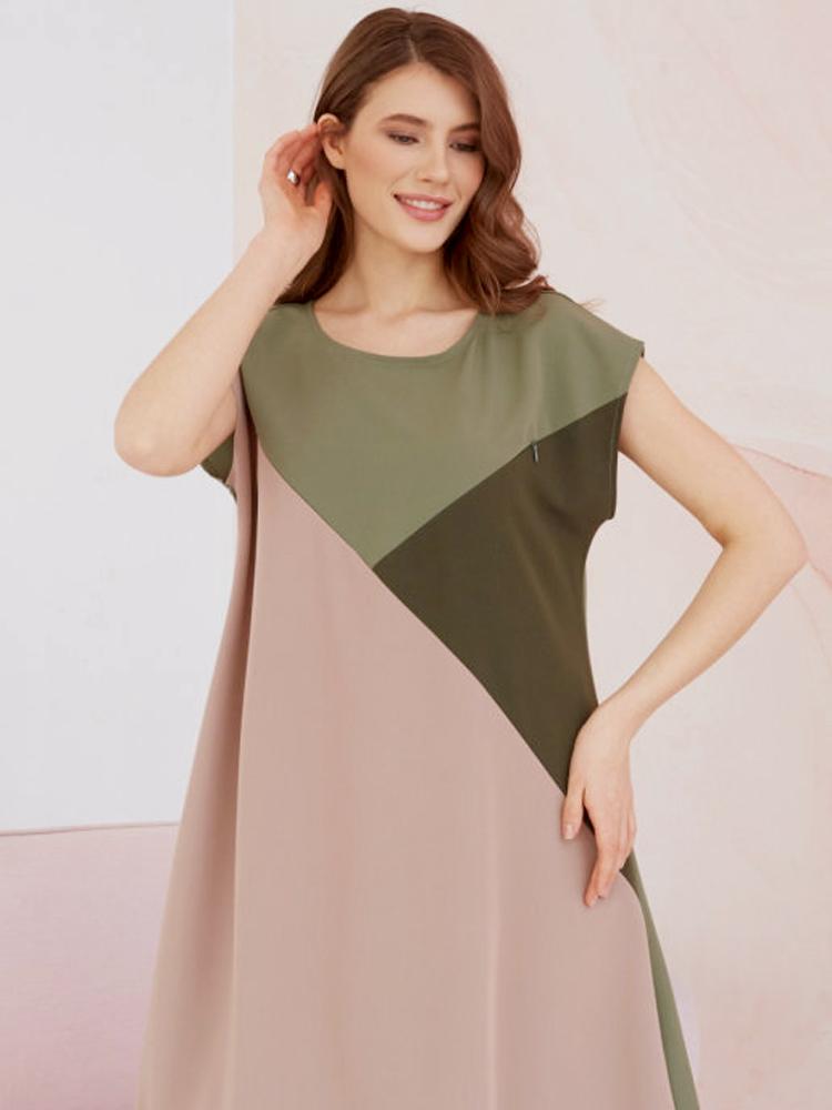Летнее платье Chic mama для беременных и кормящих мам