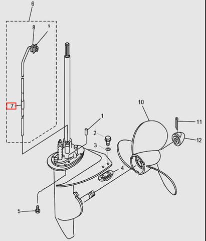 Шланг для лодочного мотора T9.8 Sea-PRO (14-7)