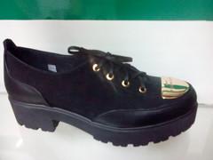 Туфли на платформе женские. Кжаные туфли на шнуровке El Passo Gold.