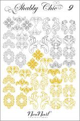Трафарет для дизайна Shabby Chic 09 белый