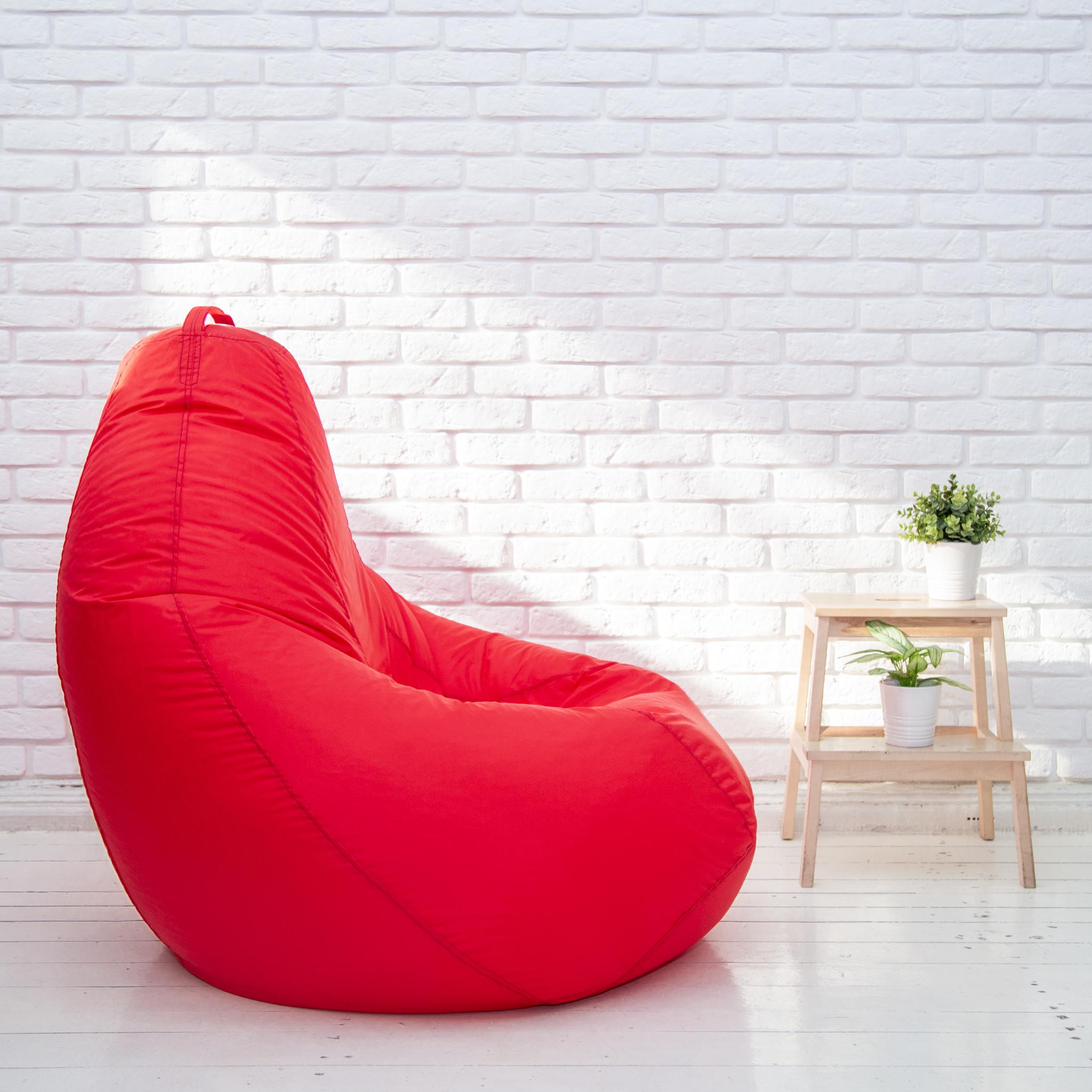 Груша XL плащёвка, несъёмный чехол (красная)
