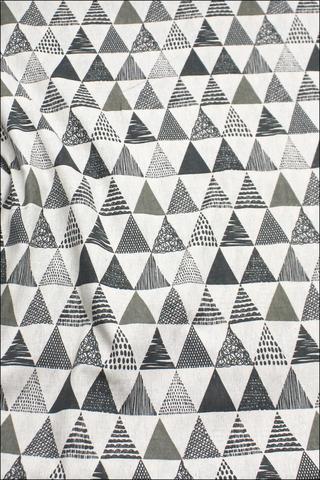 Треугольники разные, хлопок-лен