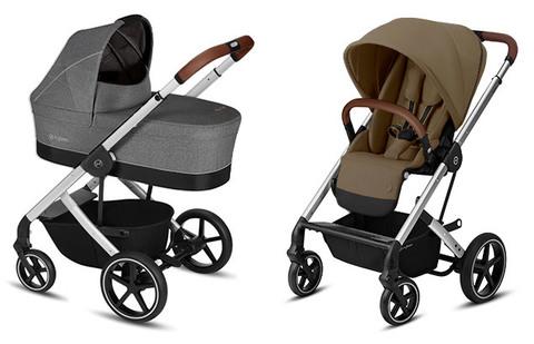 Детская коляска Cybex Balios S Manhattan Grey + Balios S Lux SLV
