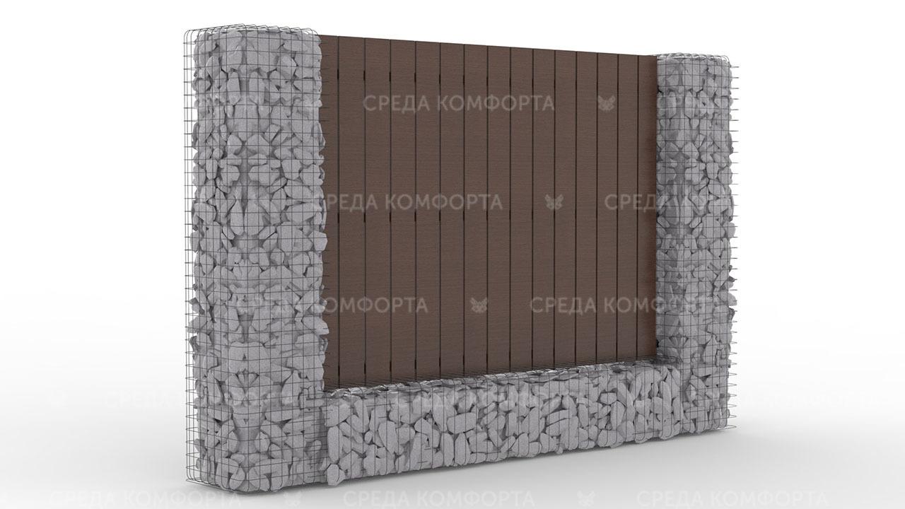 Деревянный забор ZBR0098