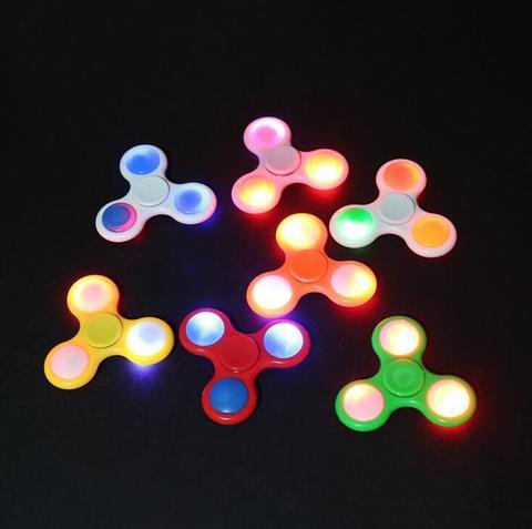 Спиннер зі світінням (LED fidget spinner) - пластиковий з LED підсвічуванням