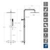 Душевая система с термостатом и тропическим душем для ванны TZAR 345401RM250NC никель - фото №2