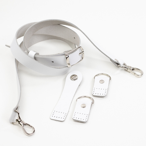 """Комплект для сумки-ракушки """"Белый"""" с ручкой через плечо"""