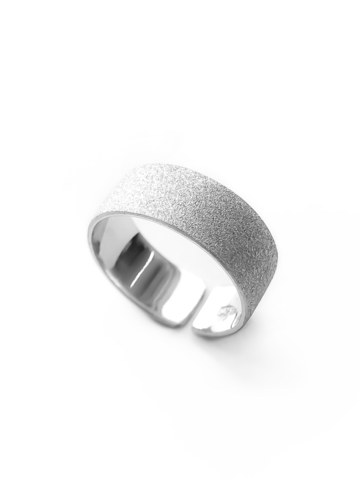 Серебряное матовое кольцо на верхнюю фалангу