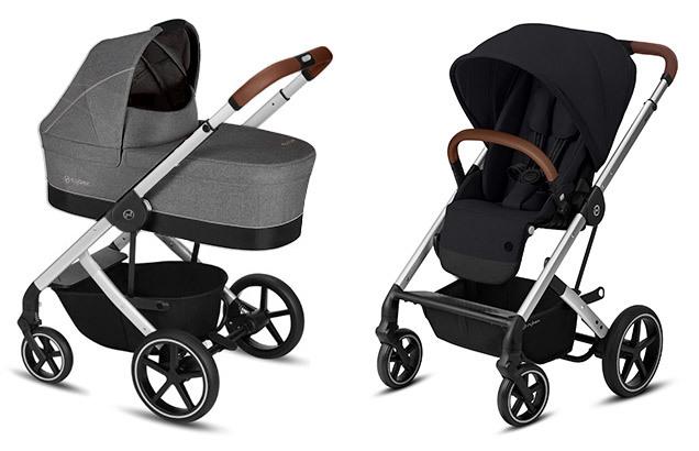 Cybex Balios S 2 в 1, для новорожденных Детская коляска Cybex Balios S Manhattan Grey + Balios S Lux SLV SLV-balios-s-2-in-1-manhattan-grey-deep-black.jpg
