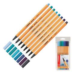 Линер STABILO POINT 88/8-03 0,4мм набор 8шт Оттенки синего