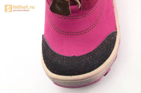 Зимние сапоги для девочек из натуральной кожи на меху Лель, цвет малиновый. Изображение 11 из 16.