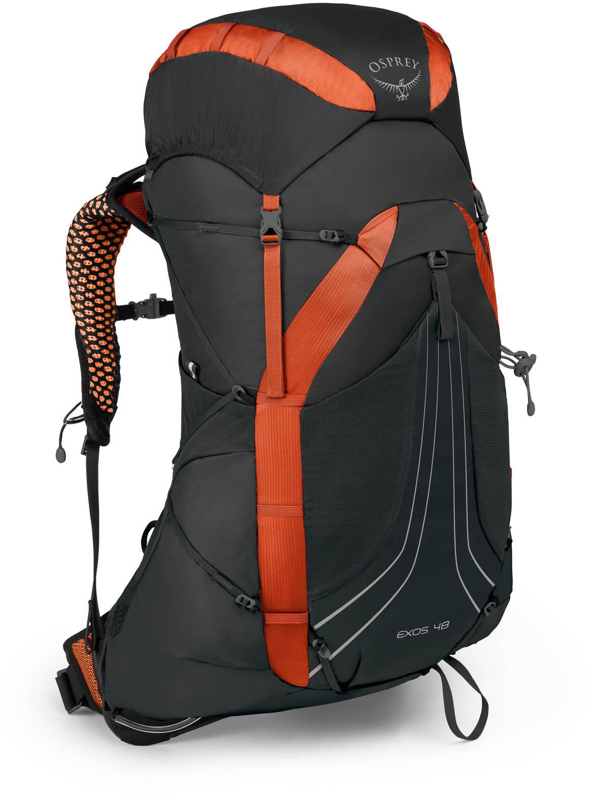Туристические рюкзаки Рюкзак Osprey Exos 48 Blaze Black L Exos48_S18_Side_BlazeBlack_web.jpg