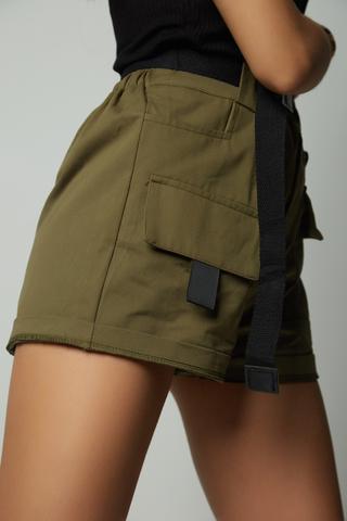 шорты хаки с карманами недорого