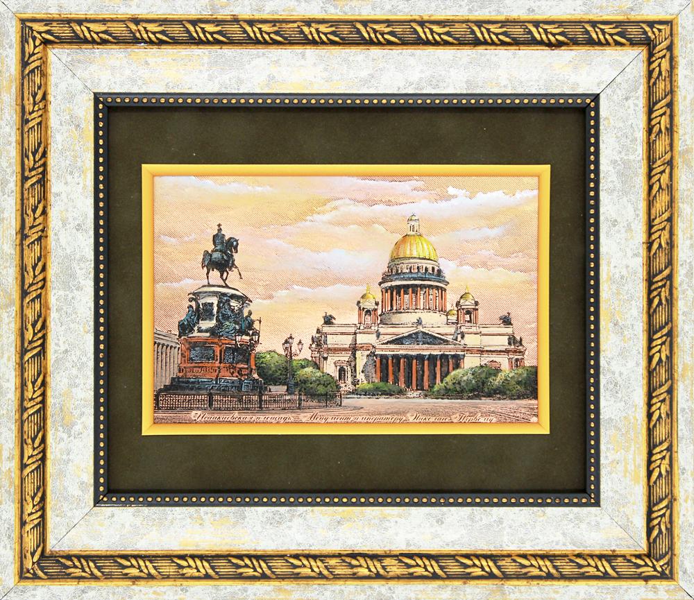 №4 «Исаакиевская площадь» Гравюра