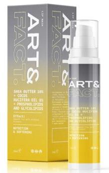 ART&FACT Shea Butter 10 %+Cocos Nucifera Oil 8 %+Phospholipids and Glycolipids маска для губ 30мл