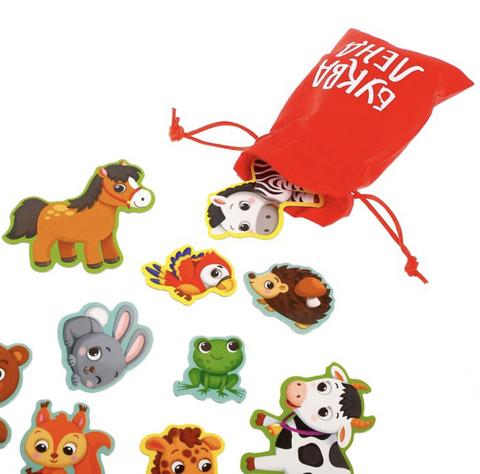 Магнитная книжка-игрушка «Мир животных»