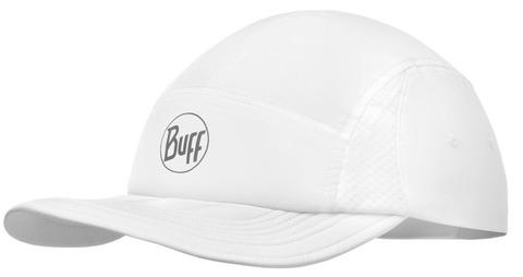 Спортивная кепка для бега Buff Run Cap R-Solid White фото 1