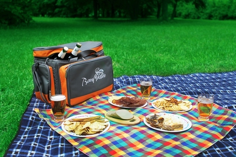 Термосумка с набором для пикника Camping World Beer Master, 4 перс., серая/оранжевая