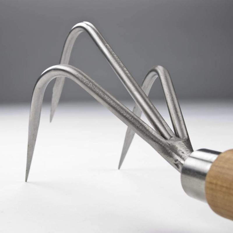 Ручной культиватор Sneeboer 3 зубца 22 см вишневая рукоятка
