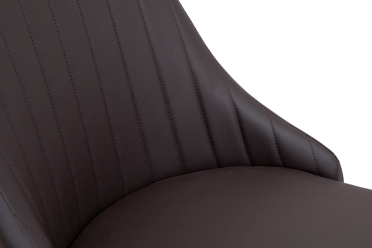 Стул 30C-905 BRN экокожа темно-коричневая 44*58*90см