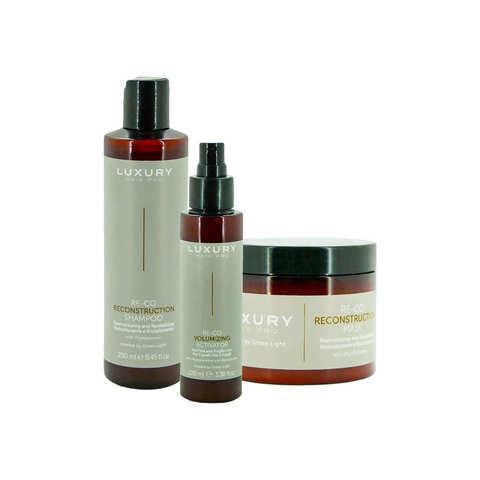 Маска, шампунь и активатор для реконструкции тонких и ломких волос