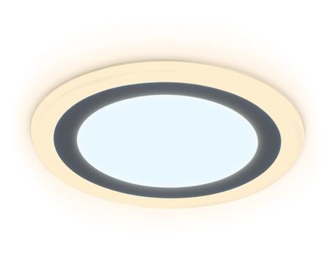 Встраиваемый cветодиодный светильник с подсветкой DCR370 3W+3W 6400K/3000K 85-265V D105*28