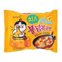 Острая лапша быстрого приготовления Samyang Hot Chicken Flavor Ramen Cheese со вкусом курицы и сыра 140 гр