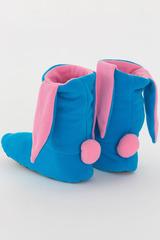 """Домашние носочки  """"Зайчики голубые с розовыми ушками"""""""