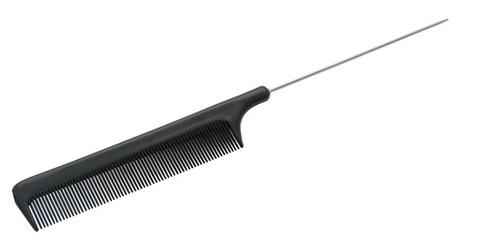 Расчёска с металлическим хвостиком Sibel черная 8487531