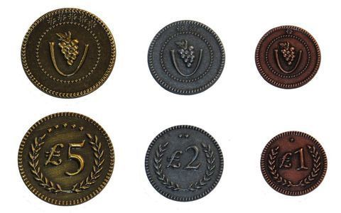 Viticulture Metal Lira Coins